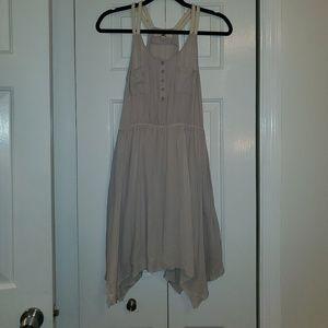 Grey/cream strap dress